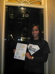 Leila Thomas, winner of Points of Light Award.