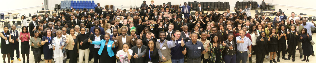 Neil at front with Role Models and students